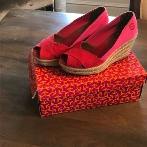 Hot Pink and Red Tory Burch Shoes